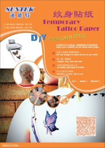 Inkjet/Laser Temporary Water Slide Tattoo Transfer Paper Tattoo Decal Paper pictures & photos
