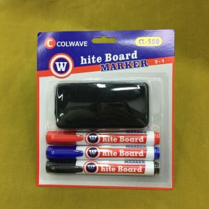 C-882 3+1 Whiteboard Marker Pen with Brush, Stationery Set pictures & photos