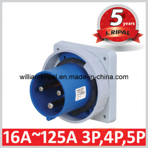 Cee IP67 2p+E 125A Industrial Built-in Power Plug pictures & photos