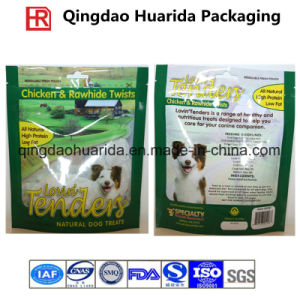 Custom Popular Plastic Quad Seal Package Bag for Pet Food pictures & photos