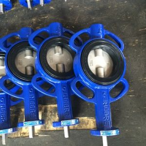 High Performance Double Eccentric Butterfly Valve with Handle pictures & photos