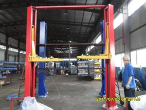 Two Post Double-Cylinder Clear Floor Hydraulic Lift Dtpo610AC