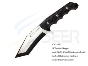 "10"" 3Cr13 Coating Blade Tactical Dagger with G10 Handle (SE-K31) pictures & photos"
