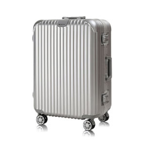 China Luggage Factory High Quality Aluminum Frame PC Trolley Luggage pictures & photos