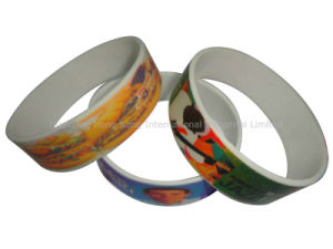 Full Color Printing Silicone Custom Wristbands