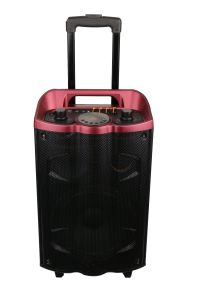 New Model LED Light Trolley Speaker with Battery pictures & photos