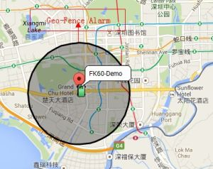 china gps vehicle tracking system with geo fence alarm