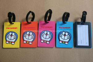 Eco-Friendly Custom PVC Luggage Tag with Cmyk Printing pictures & photos