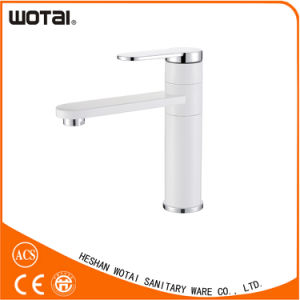 White Color Single Lever Lavatory Faucet (BS026) pictures & photos