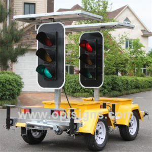 Solar LED Warning Lights Stop Go Road Traffic Light Signs pictures & photos