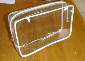 Transparent PVC Vinyl Cosmetic Make up Toiletry Vanity Bag pictures & photos