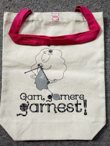 Canvas Cotton Tote Bag with Two Long Ptn Handles