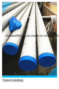 316L Seamless Stainless Steel Pipe with Blue Caps pictures & photos