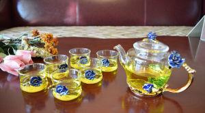 Color Enamels Glass Tea Set pictures & photos