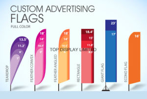 Popular Customed Flying Flag Printed Beach Outdoor Display Banner pictures & photos