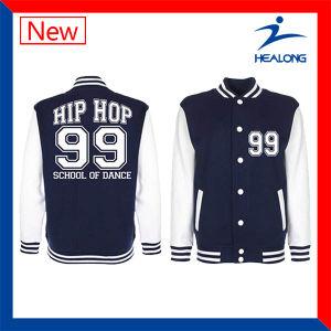 Healong Custom Design Sportswear College Match Men′s Baseball Jacket pictures & photos