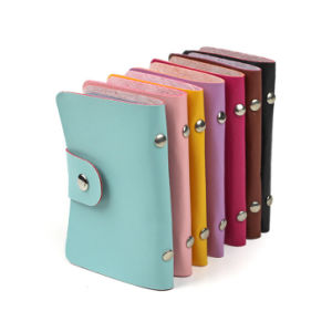 24 Bits PU Leather Business Credit Card Holder pictures & photos