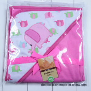 100% Cotton Soft Baby Swaddle Blanket Hooded Poncho pictures & photos