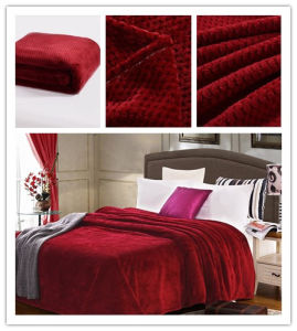 Super Soft Solid Flannel Waffle Blanaket Sr-B170211-16 High Quality Solid Coral Fleece Waffle Blanket pictures & photos