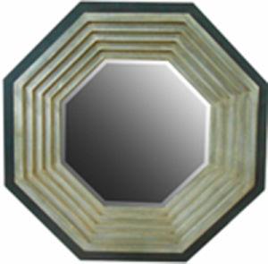 Hot Sale Decorative Polygon Mosaic Mirror Frame (LH-423738) pictures & photos
