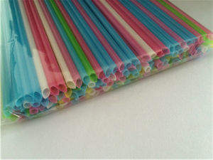 Colors Straight Plastic Drinking Straw with Sharp End pictures & photos
