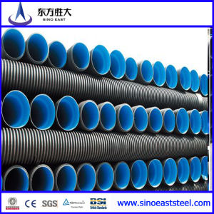 High Density PE Double-Wall Corrugated Pipe for Municipal Engineering Rainwater pictures & photos