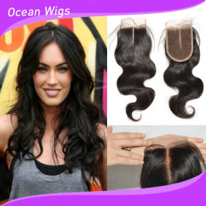 Beauty Cambodian Virgin Remy Hair Body Wave Silk Top Lace Top Closure (LC-024) pictures & photos