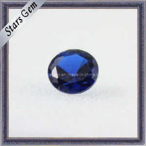 Artificial Bule Round Cut Corundum Blue Gemstone Sapphire Beads pictures & photos