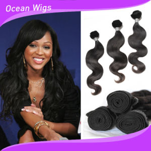 100% Human Hair Extension Brazilian Virgin Remy Body Wave Human Hair Weft (w-078) pictures & photos