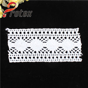 White High Quality Polyester /Cotton Lace Fabric pictures & photos