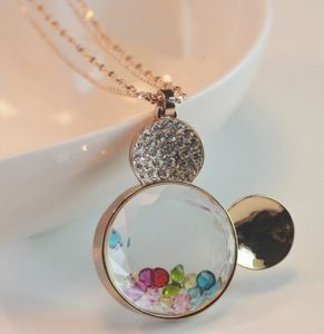 2013 Crystal Rhinestone Mickey Necklace Fashion Jewelry (MOS-NA04307)