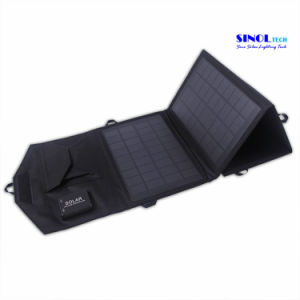 14W 5V/18V Portable Charger Folding Solar Panel Solar Charger with Optional USB, DC Output (FSC-14B) pictures & photos