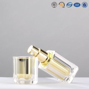 15ml 30ml 50ml 100ml High Quality Plastic Acrylic Square Luxury Cosmetic Packaging Bottle pictures & photos