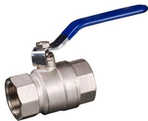 2pcsbrass Ball Valve with Steel Handle Nickel Plated (YED-A1003)
