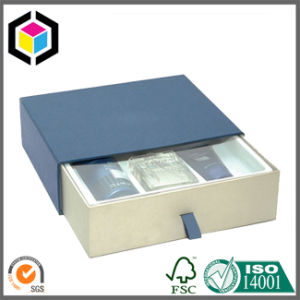 Navy Color Print Drawer Style Cardboard Gift Paper Sliding Box pictures & photos