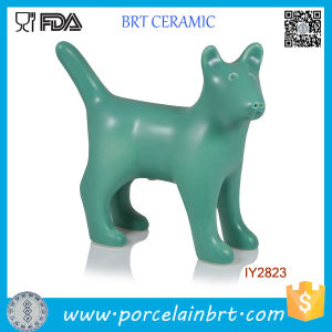 Creative Green Dog Ceramic Salt and Pepper Shaker pictures & photos