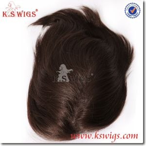 100% Premium Virgin Remy Hair Human Hair Men Toupee pictures & photos