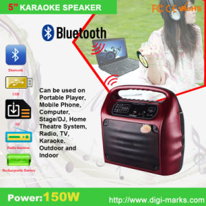 Promotional Amplifier Subwoofer Stereo Wireless Round Bluetooth Speaker pictures & photos