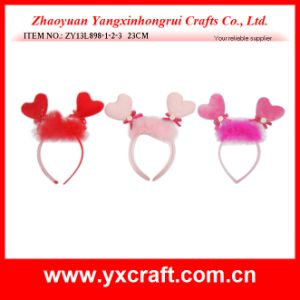 Valentine Decoration Free Sample (ZY13L898-1-2-3) Love Valentine Headband Valentine Gift pictures & photos