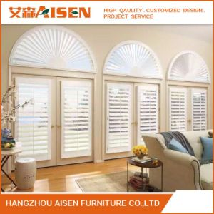 Ready Made Custom Sun Adjustable Wood Plantation Shutter pictures & photos