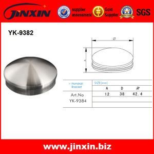 Stainless Steel Handrail Fitting Pipe End Cap (YK-9384)