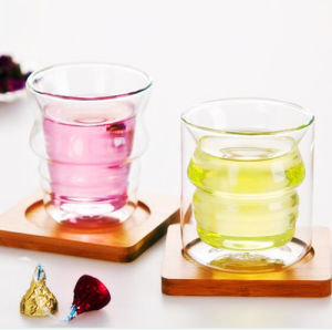 Creative Couple Glass Cup Whisky Double Wall Glass Cup pictures & photos