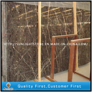 Chinese Hang Grey Marble Slabs (with Red Vein) for Tiles pictures & photos