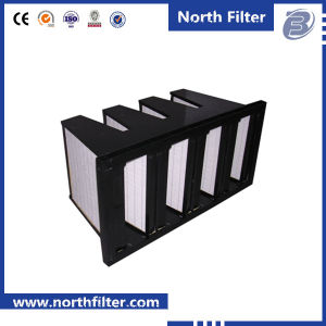 4 V-Type Combined Air Filter Plastic Frame HEPA Filter pictures & photos