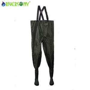 190t Nylon/PVC Bibpant with Rain Shoe pictures & photos