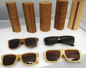 Round Bamboo Sunglasses Case pictures & photos