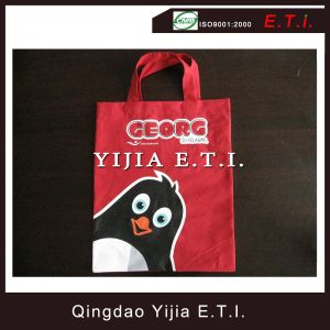 Red Small Size Cotton Tote Bag for Promotion pictures & photos