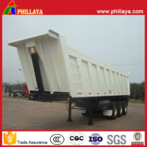 3 Axles Van Dump Semi Trailer with Volume Opptional pictures & photos