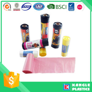 Colorful High Density Polyethylene Garbage Bag on Roll pictures & photos