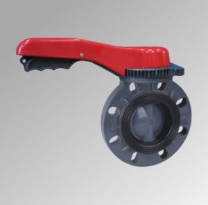 UPVC Handle Type Butterfly Valve pictures & photos